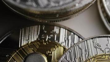 colpo rotante di bitcoin (criptovaluta digitale) - ripple bitcoin 0067 video