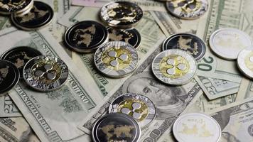 rotierende Aufnahme von Bitcoins (digitale Kryptowährung) - Bitcoin-Welligkeit 0302