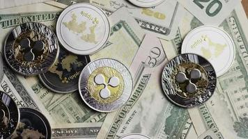 Tir rotatif de bitcoins (crypto-monnaie numérique) - ondulation bitcoin 0292 video