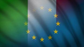 drapeau de l'ue italie
