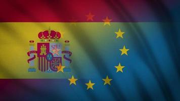 spanien eu flagge