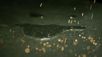 Sparks in ultra slow motion (1,500 fps) on a reflective surface - SPARKS PHANTOM 030 video