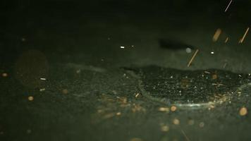 Sparks in ultra slow motion (1,500 fps) on a reflective surface - SPARKS PHANTOM 033 video