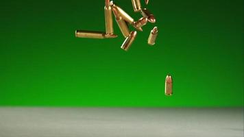 proiettili che cadono e rimbalzano in ultra slow motion (1.500 fps) su una superficie riflettente - proiettili fantasma 024 video