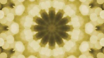 caleidoscopio amarillo bokeh