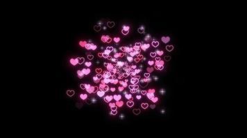 rosa Partikel mit Sternen, die platzen video