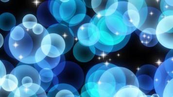 particelle circolari scintillanti blu in aumento