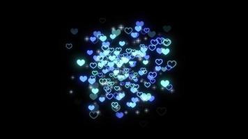 blaue Partikel mit diesen Sternen platzen video