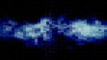 circuito elétrico azul e rede regtangle crescendo video