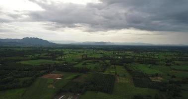vista aérea del campo de tailandia.