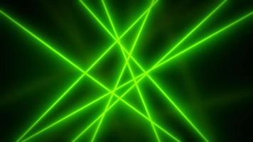 raios de luz verdes abstratos girando em loop de fundo video