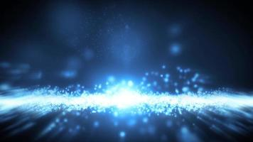 abstrakter Lichtteilchen-Zeitlupen-Fließclip video