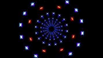 luzes brilhantes giratórias video
