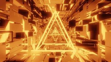 filaire lumineux avec tunnel spatial scifi