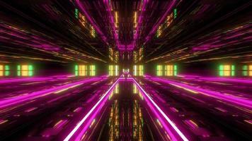 túnel futurístico de nave espacial scifi video
