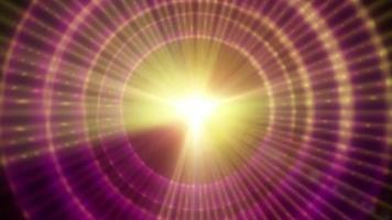 una stella pulsar grafica che irradia luce ed energia pulsante