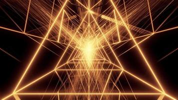 Abstract Triangle Wireframe Design
