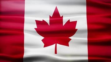 Canada flag loop video
