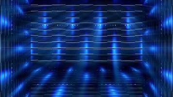 strutture futuristiche e sfondo di luci