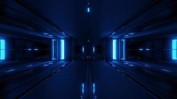 futuristischer Science-Fiction-Raumschiffstunnel