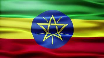 ciclo di bandiera dell'Etiopia