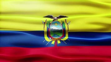 ciclo di bandiera dell'Ecuador video