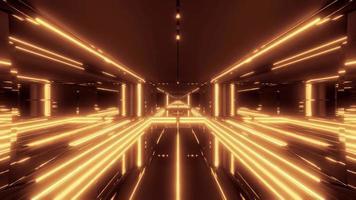 túnel futurístico de ficção científica
