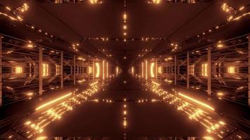 futuristico tunnel di fantascienza video