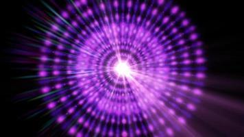 una stella pulsar grafica irradia luce ed energia
