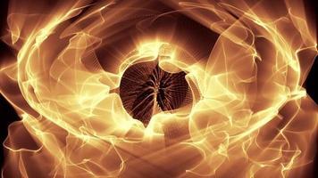 ondas de luz dourada ondulam e fluem