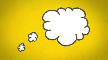 Gedankenwolke gegen gelbe Tafel
