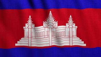 bandeira do camboja acenando video
