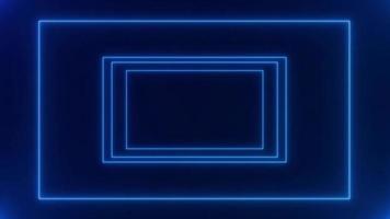 marco de neón de luz abstracta