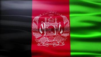 bandiera dell'Afganistan loop video