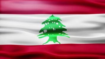 ciclo di bandiera del Libano video