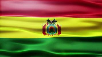 bandiera della Bolivia loop video