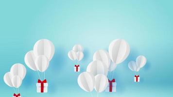 balões brancos cuidando de presentes video