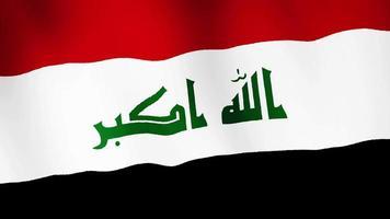 bandera de irak ondeando, un fondo de animación de bandera. video