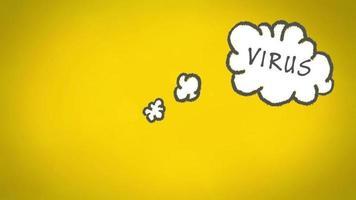 vírus na nuvem de pensamento video