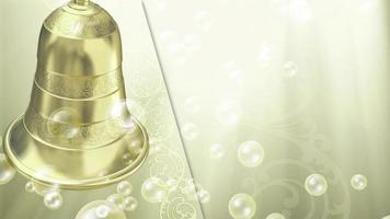 sinos de casamento com bolhas flutuantes