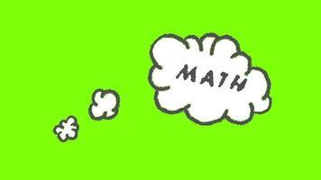 fundo transparente de pensamento matemático video