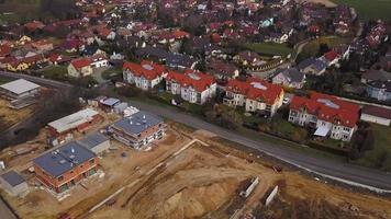 vista aérea de um canteiro de obras video
