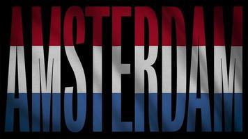 bandera de los países bajos con máscara de amsterdam