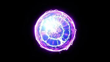 bola de plasma de energía video