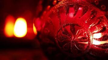 luz de las velas en el vidrio