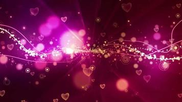 Fondo abstracto del corazón del tentáculo video