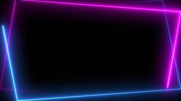 azul neón y rosa se ejecutan en forma trapezoidal.