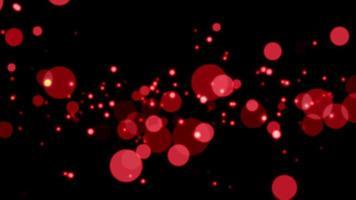 fundo de loop de partículas de bokeh vermelho video