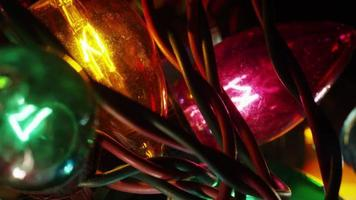 cena cinematográfica rotativa de luzes de natal ornamentais - natal 056