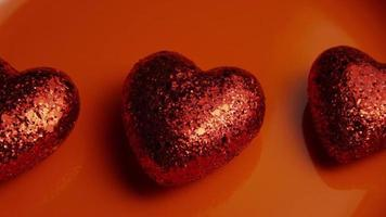 Rotating stock footage shot of Valentines decorations and candies - VALENTINES 0031 video